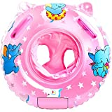 Sealive Baby Pool Float, Infant Seat Boat Inflatable Swimming Ring Trainer Waist Pool Float with Double Handle, Childrens' First Swim Floaties Bathtub Toys Pool Accessories for Kids Toddlers