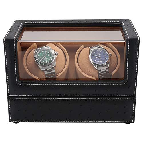 L.HPT Uhrenbeweger 2 Uhren, Uhrenbeweger-Box für Automatikuhren oder Rolex Double Spacious für Jede Größe