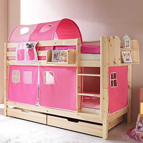 Pharao24 Mädchen-Etagenbett Ortenza in Pink