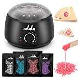 Waxing Kit, Hair Removal Home Wax Warmer with 4 Flavors Stripless Hard Wax Beans...