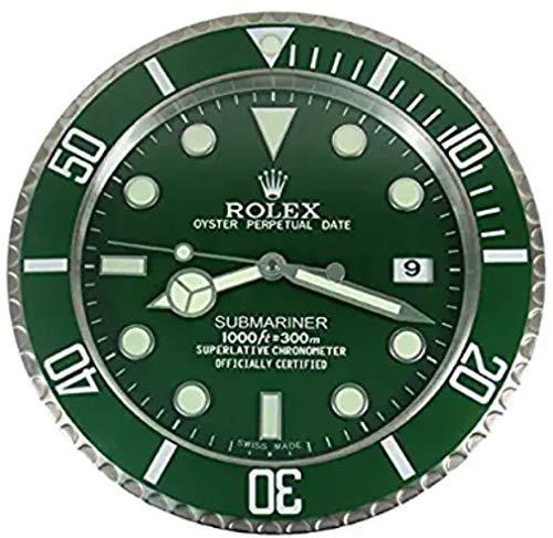 Rolex Replika - Reloj de pared, diseño de Rolex Supmariner Hulk, color verde