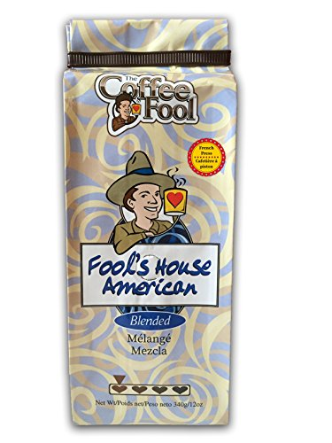 The Coffee Fool French Press, Fool's House American, 12 Ounce