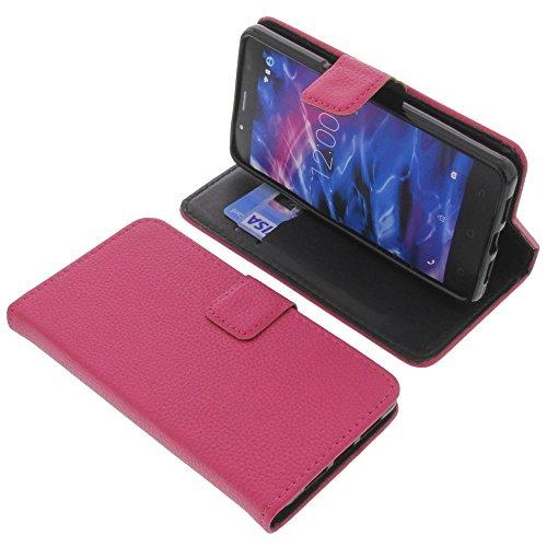 foto-kontor Tasche für MEDION Life S5004 Book Style pink Schutz Hülle Buch