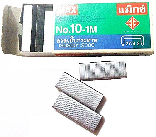 20 Boxes (20,000-Staples) Authentic Max Staples No.10-1M for Office Stapler Photo #7