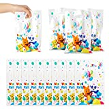 Haooryx 50pcs Word Party Theme Party Favor Bags, Plastic Goodies Gift Bag Candy Treat Bags for Kids Word Party Birthday Party Supplies Family Party Baby Shower Decorations Children Rewards Pack