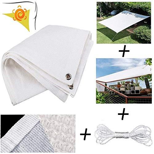 WEDSGTV Velas De Sombra Rectangular - Anti UV 95% Y Protección Solar Paño De Sombra para Terraza Cochera Pergola Balcón Jardín Jardín Toldo,White-2x3m