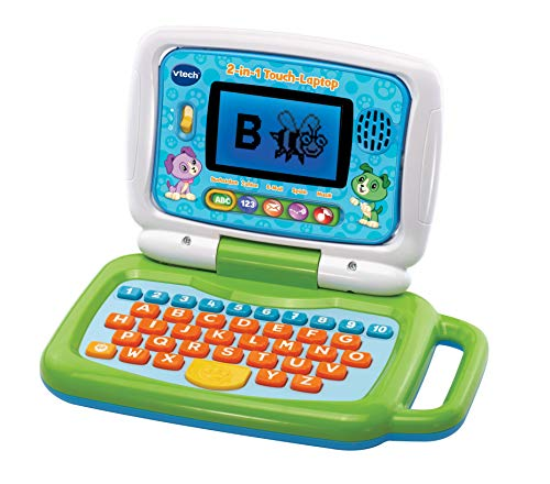 Vtech 80-600904 2-in-1 Touch-Laptop, Lernlaptop, Mehrfarbig