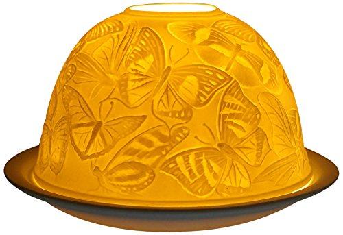 Him De Porcelana/Portavelas Candelabros Mariposas Portacandela Antivento, Ceramica, Bianco, 11x11x9 cm
