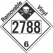 GC Labels-P335c2788, Inhalation Hazard Class 6.1 UN2788 Removable Vinyl DOT Placard, Package of 50 Placards