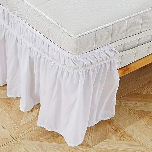 Redxiao~ Elastische Bettrüsche, Easy On/Easy Off Spread Cover Bettrock, Volantbett für Home Quilt Schlafdecke Familie(King: 78 * 80+15inch)