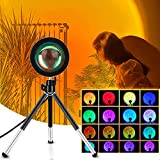 Sunset Lamp, Sunset Projection Lamp, 17 Colores Lámpara de Proyección Sunset con Trípode Extensible, Rotación 360° Sunset Lamp Light Rainbow Sunset Projection Foor Lamp