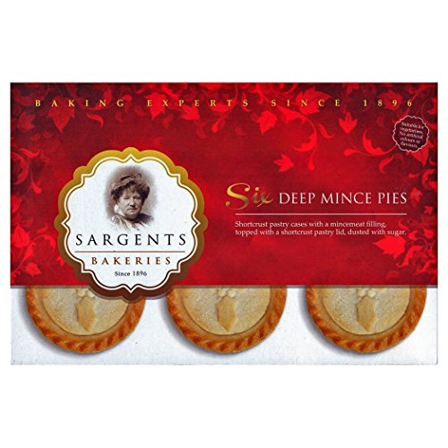 Sargents Deep Mince Pies 6 Pack - Weihnachts-, Advents-Törtchen