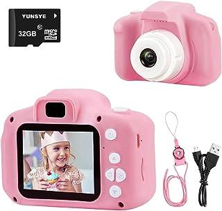 كاميرا يونسي للاطفال، كاميراتفيديو رقمية للاطفال للفتيات، هدايا أبعاب لأعياد الميلاد اعمار 4-12 عامًا، كاميرا للاطفال ببطا...
