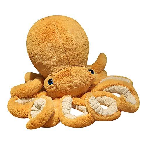 Lindos juguetes de peluche de pulpo, muñecas rellenas de pulpo de tinta, juguete de animales marinos suaves Gran regalo para bebés y niños