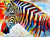 diamond painting kits for adults 5D Diamond Painting Round Animal Zebra Embroidery Picture Of Rhinestone Diamond Mosaic Home Decor-19.6x27.5 inches