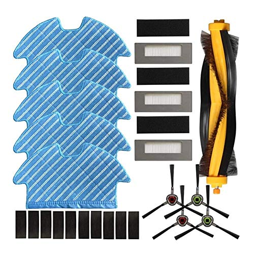 MeiZi Filtro Principal Cepillo Lateral Mopping Cloth Fit Kit for Ecovacs Deebot Ozmo 900 DN5G Piezas Vacuum Cleaner (Color : Multi)