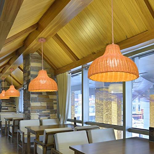WangWDN eenvoudige hanglamp creatieve hanglamp, creatief design pastoral rotan kroonluchter woonkamer restaurant kledingwinkel creatieve kroonluchter