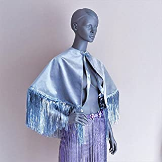 Festival cape Velvet cape Hooded cape wedding capelet EDC festival outfit festival fringe top rave outfit burning man wear performance wear