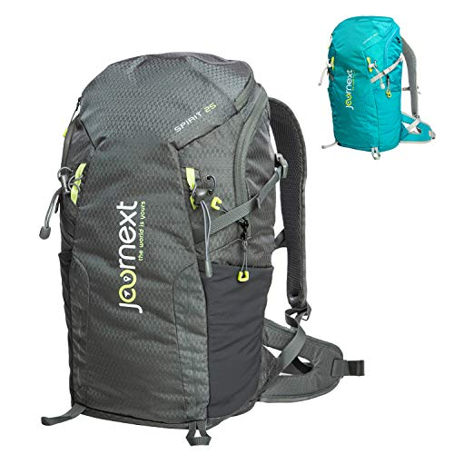 Journext Spirit 25 backpack, hiking backpack, trekking backpack, 25 litres, unisex, light and stable, for outdoor, hiking, camping, daypack (Grey)