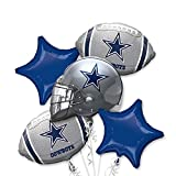Anagram NFL - Dallas Cowboys - Foil Balloon Bouquet, Silver/Blue