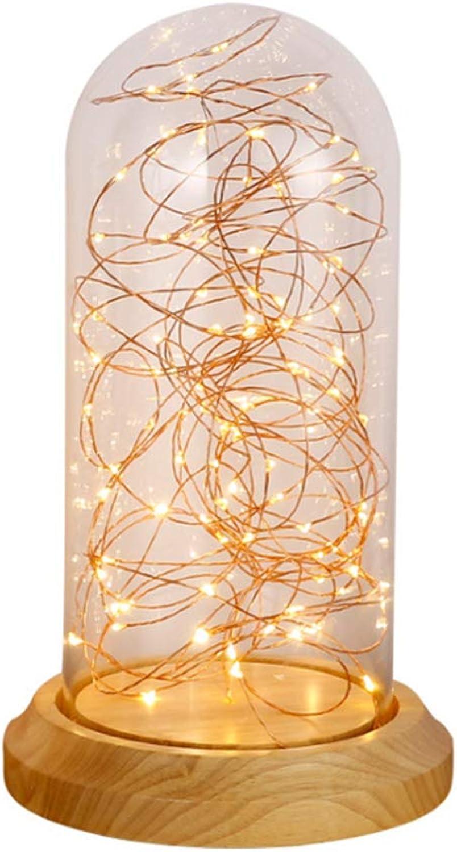 SioHopio Kreative Massivholz Tischlampe, Sternenglas Tischleuchte, Moderne Studie Bar Dekoration Schreibtischlampe, Geburtstagsgeschenk Nachttischlampe,B