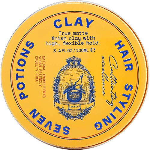 Hair Styling Clay For Men 3.4 fl oz - Matte Finish - High Hold - Water Based - Natural, Vegan, Cruelty Free Louisiana