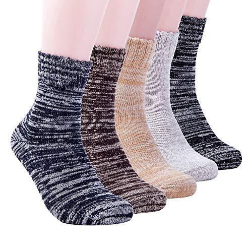 Yannik Men's Warm Soft Comfort Crew Winter Socks (Pack...