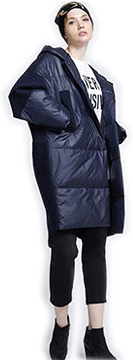 Winter Oversize Down Coat Loose Fit Fashion Long Coat Fill 90 White Duck Down