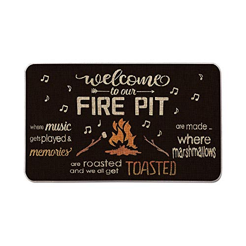 Artoid Mode Welcome to Our Fire Pit Decorative Doormat,...
