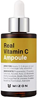 Mizon Real Vitamin C Ampoule, Pure Vitamin C 19% No Water Added, Only 10 Ingredients Formula for tone correction treatment...