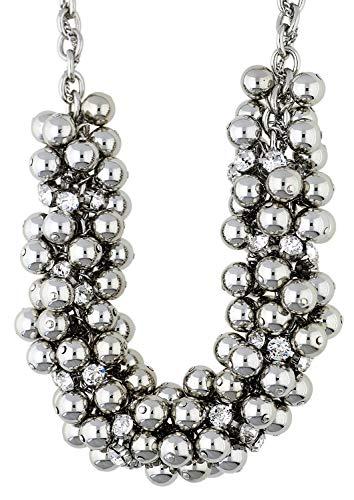 LOLAANDGRACE Damen Halskette Swarovski Kristall Farbe Silber 5072615