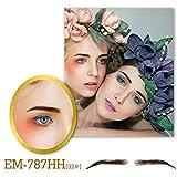 Vlasy One Pair Handmade False Eyebrows Human Hair Fake Eye Brows With 1Ml Eyebrows Adhesive (EB-787-32#)