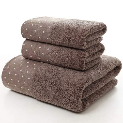 YXFYXF 100% algodón Dot Estampado Toalla de Toalla de baño Toalla de Cara Toalla Gruesa rápida sin desequilibrio de Alta Toalla Absorbente (Color: 02, tamaño: 35 x 75cm) (Color : 4, Size : 3pcs Set)