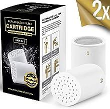 AquaHomeGroup 15 - Stage Vervanging Douche Water Filter Cartridge (geen behuizing), Compatibel met elke Douche Filter van ...