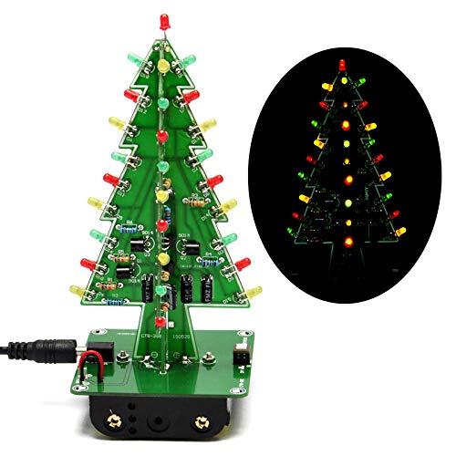Gikfun EK1719U 3D-Weihnachtsbaum-LED-Heimwerker-Kit mit Blitzschaltung, LED