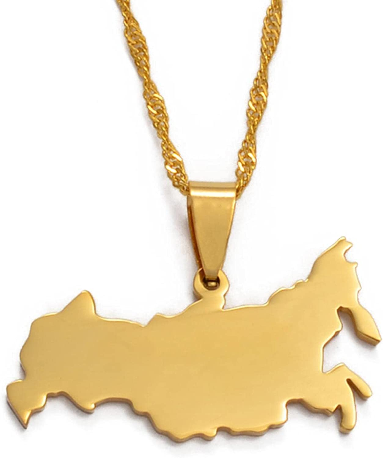 Russia Map Pendant Necklaces The Jewelr Charm In a popularity Ranking TOP4 Russian Federation