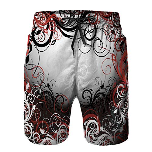 Hombres Verano Secado rápido Pantalones Cortos Playa Vector
