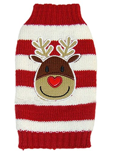 Moorfowl Cute Reindeer Pet Dog Christmas Knitted...