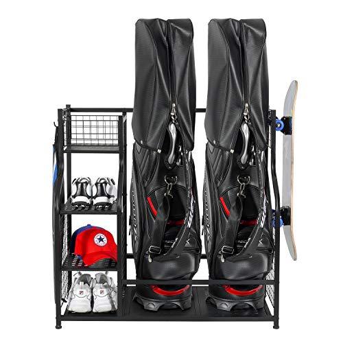 PLKOW Golf Bag Storage Garage Organizer