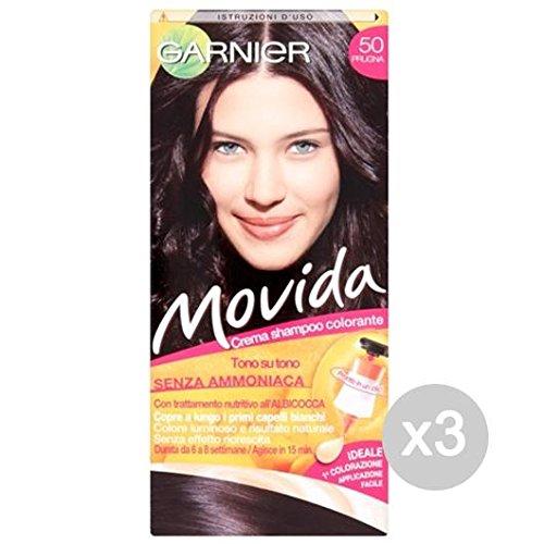 Set 3 MOVIDA 50 Plum Couleur Et La Couleur Des Cheveux