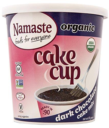 Namaste Foods Gluten Free Organic Cake Cup, Dark Chocolate, 2.43 Ounce (Pack of 12) - Allergen Free