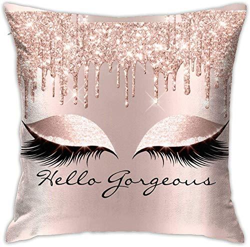 BONRI Pantalones Rosa Rosa Dripsmakeup Lashes Funda de Almohada Cuadrada Sofá para el hogar Decorativo Ultra Suave Cómodo , (18'x18 / 45x45cm