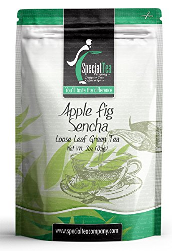 Special Tea Seasonal Loose Leaf Green Tea, Apple Fig Sencha, 3 Ounce