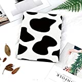 Printed Smart Case for iPad 9.7 2018/2017,Lightweight Smart Cover with Auto Sleep/Wake,Hard Back Cover for iPad 9.7 iPad 5th / 6th Generation,Cow Print,Hide of a Cow with Black Spots Abstract and Plai