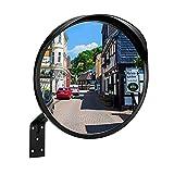 RMAN Specchio Convesso di Sicurezza, elimina gli angoli ciechi, Utilizzato per Traffico, strade, negozi e parcheggi, Diametro 30 cm, con Staffa di Fissaggio
