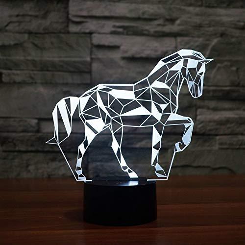 Wfmhra Colori Che cambiano Jigsaw Puzzle Cavallo Acrilico 3D LED Luce Notturna USB LED Lampada da Tavolo Decorativa Baby Sleep LED Lampada Colorata Mood