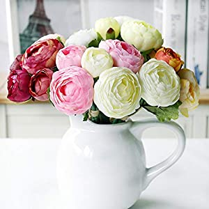 Silk Peony Artificial Flower for Wedding Home Decoration Peonies Lotus Bridal Bouquet 1pcs