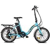 ECOTRIC 20' Folding Electric Bicycle City Bike Ebike Alloy Frame Powerful 350W Gear Rear Motor...