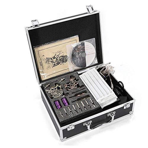 Yunrux - Kit completo de máquina de tatuaje, 4 piezas, 50 colores, agujas