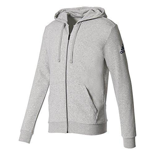 adidas Herren Essentials Base Full Zip SLB Jacke, Medium Grey Heather, S